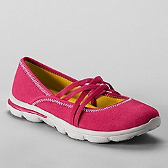 Lands' End - Pink women's  alpargata mary jane shoes