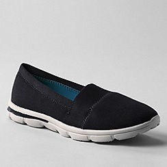 Lands' End - Black women's alpargata slip-on shoes