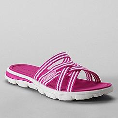 Lands' End - Pink women's  alpargata slip-on sandals