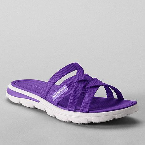 Lands+ End - Purple women+s  alpargata slip-on sandals