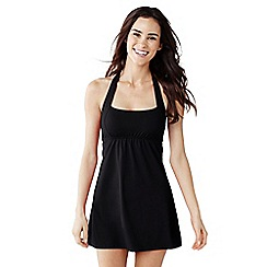 Lands' End - Black women's each living halter dresskini top
