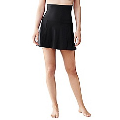 Lands' End - Black shape and enhance ultra high rise  swimmini