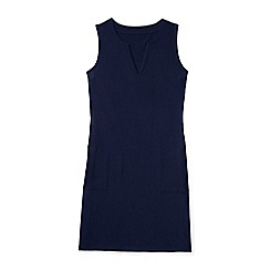 Lands' End - Blue plus sleeveless jersey cover-up dress