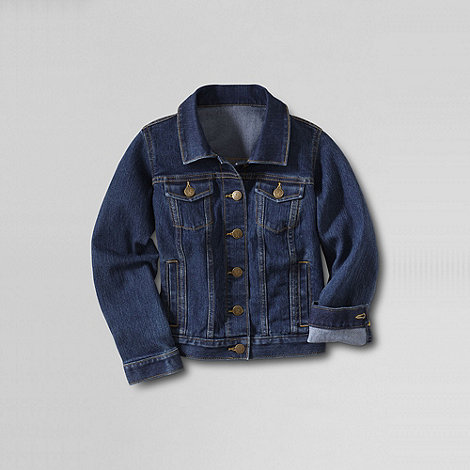 Lands+ End - Blue girls+ denim jacket