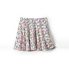 Lands' End - White girls' patterned twirl skort