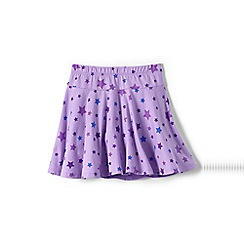 Lands' End - Purple girls' patterned twirl skort
