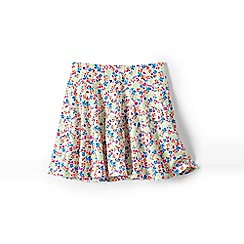 Lands' End - White girls' patterned twirl skort