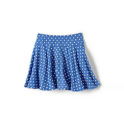 Lands' End - Blue girls' patterned twirl skort
