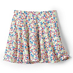 Lands' End - Girls Toddler White patterned jersey twirl skort