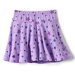 Lands' End - Girls Toddler Purple patterned jersey twirl skort