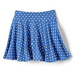 Lands' End - Girls Toddler Blue patterned jersey twirl skort