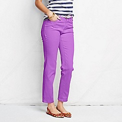 Lands' End - Purple women's petite bright ankle jeans