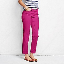 Lands' End - Pink women's petite bright ankle jeans