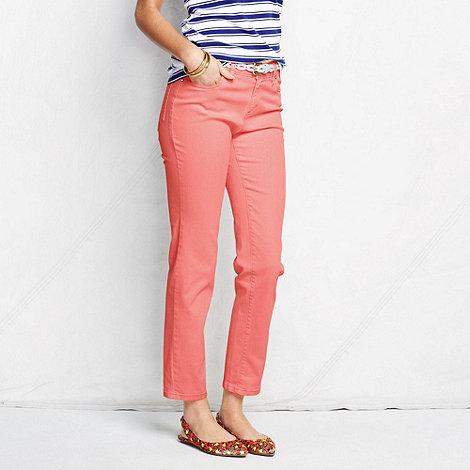 Lands+ End - Orange women+s petite bright ankle jeans