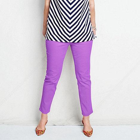 Lands+ End - Purple women+s plus bright ankle jeans