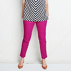 Lands' End - Pink women's plus bright ankle jeans