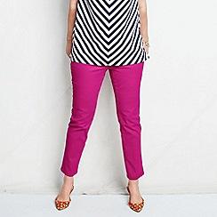 Lands' End - Pink women's plus bright ankle jeans