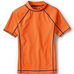 Lands' End - Boys Toddler Orange short sleeve rash guard top