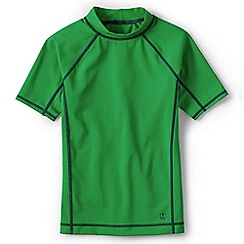 Lands' End - Green boys' short sleeve rash guard top