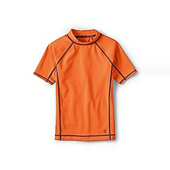 Lands' End - Orange boys' short sleeve rash guard top