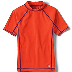 Lands' End - Boys' orange short sleeve rash guard top