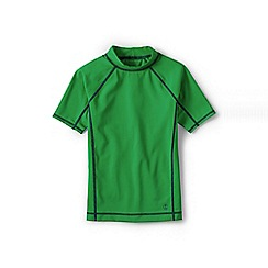 Lands' End - Green boys' short sleeve rash guard top