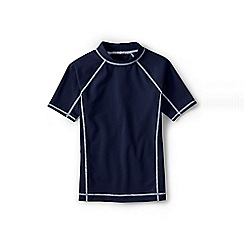 Lands' End - Dark blue boys' short sleeve rash guard top