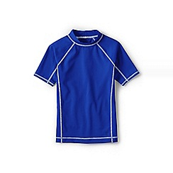 Lands' End - Blue boys' short sleeve rash guard top