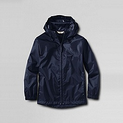 Lands' End - Blue boys' packable navigator rain jacket