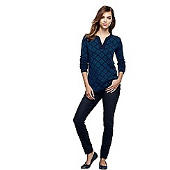 Lands' End - Blue women's fine gauge double jacquard tunic