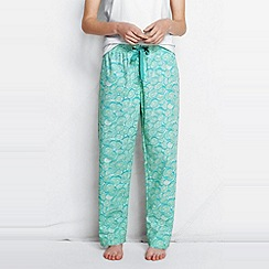 Lands' End - Blue women's poplin pyjama bottoms