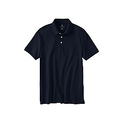 Lands' End - Blue men's slim fit short sleeve supima polo