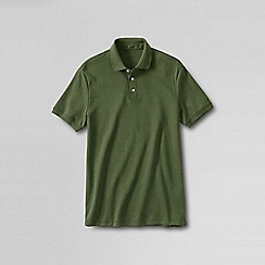 Lands' End - Green slim fit short sleeve supima polo