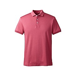 Lands' End - Pink slim fit short sleeve supima polo
