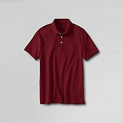 Lands' End - Red men's slim fit short sleeve supima polo
