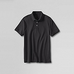 Lands' End - Grey slim fit short sleeve supima polo
