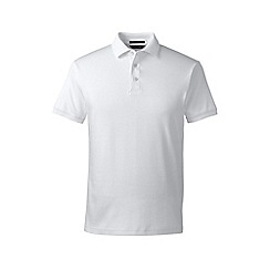 Lands' End - White slim fit short sleeve supima polo