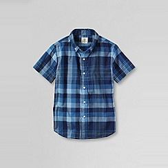 Lands' End - Blue little boys' short sleeve poplin shirt