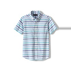 Lands' End - Multi boys' short sleeve poplin shirt