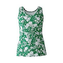 Lands' End - Green regular patterned cotton vest top