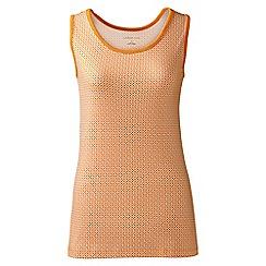 Lands' End - Orange regular patterned cotton vest top