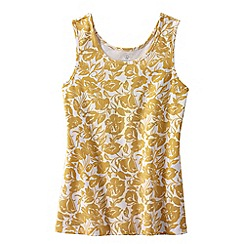 Lands' End - Gold women's regular patterned cotton vest top