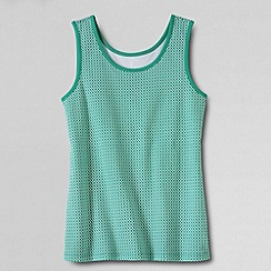 Lands' End - Blue women's regular patterned cotton vest top