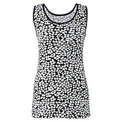 Lands' End - Black regular patterned cotton vest top