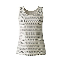 Lands' End - Cream regular patterned cotton vest top