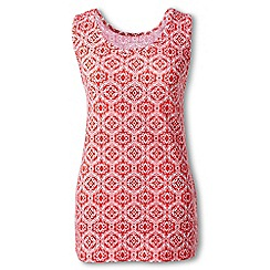 Lands' End - Red regular patterned cotton vest top