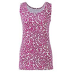 Lands' End - Pink regular patterned cotton vest top