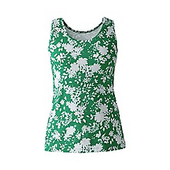 Lands' End - Green petite patterned cotton vest top
