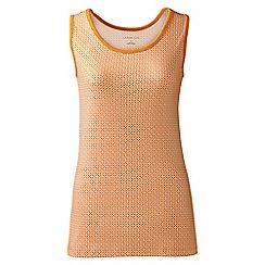 Lands' End - Petite Orange patterned cotton vest top