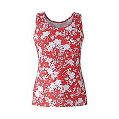 Lands' End - Orange petite patterned cotton vest top